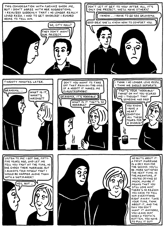 Read Chapter 19 - The End, page 179, from Marjane Satrapi's Persepolis 2 - The Story of a Return
