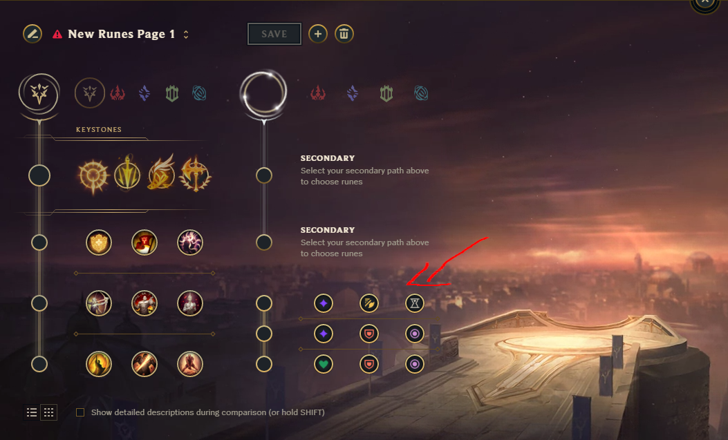 League Rune Changes