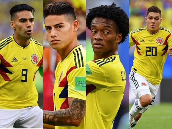 """ĐT Anh sẽ ôm hận vì bộ """"tứ anh tài"""" của Colombia? 1"""