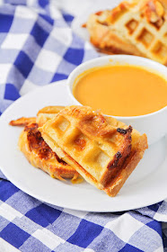 This waffle grilled cheese is a fun twist on a traditional grilled cheese, with the perfect crispy crust!