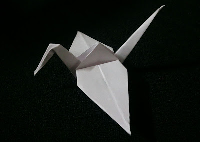 Origami crane folded by yours truly. 999 more to go...
