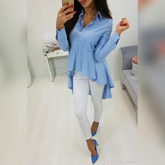 Γυναικείο μπλε πουκάμισο GENEVA