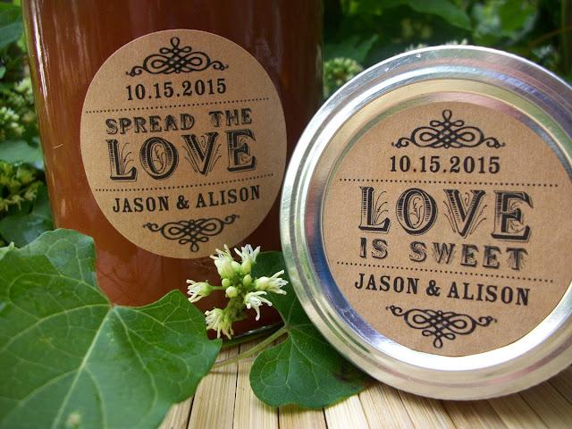 custom love is sweet label