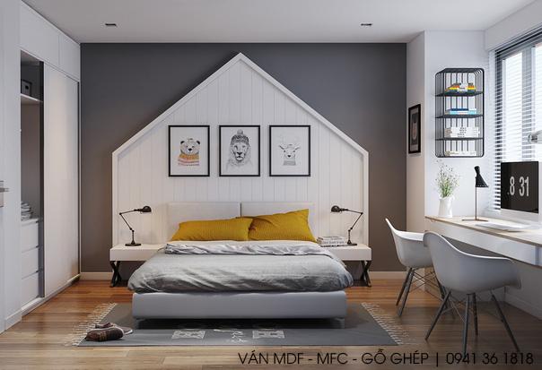 thiết kế phòng ngủ phong cách lãng mạn