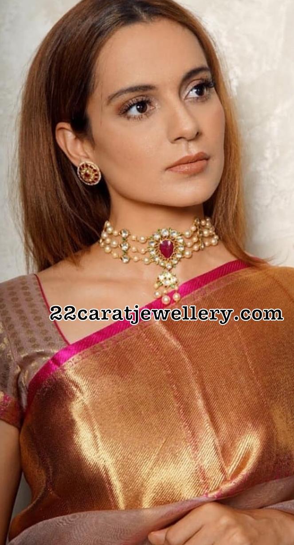 Kangana Ranauth Pearl Choker