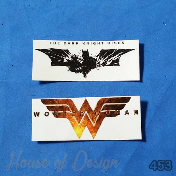 STICKER MINI THE DARK KNIGHT RISES, WONDER WOMAN CUSTOM