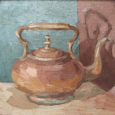 #38 'Old Copper Teapot' 8×8″