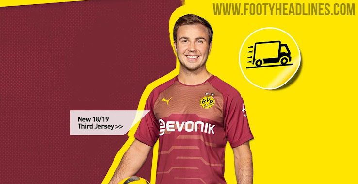 lowest price 1c7bf 9beea Goalkeeper Template: Dortmund 18-19 Third Kit Launched ...