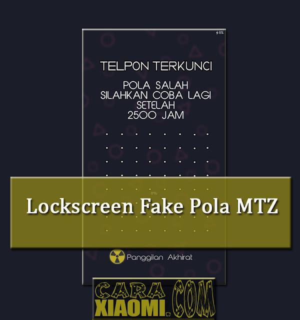 Lockscreen Mod Fake Banyak Pola Mtz Terbaru For MIUI by Ais