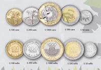 Monedas nuevas de Colombia