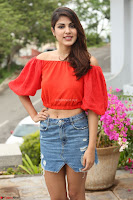 Rhea Chakraborty in Red Crop Top and Denim Shorts Spicy Pics ~  Exclusive 057.JPG