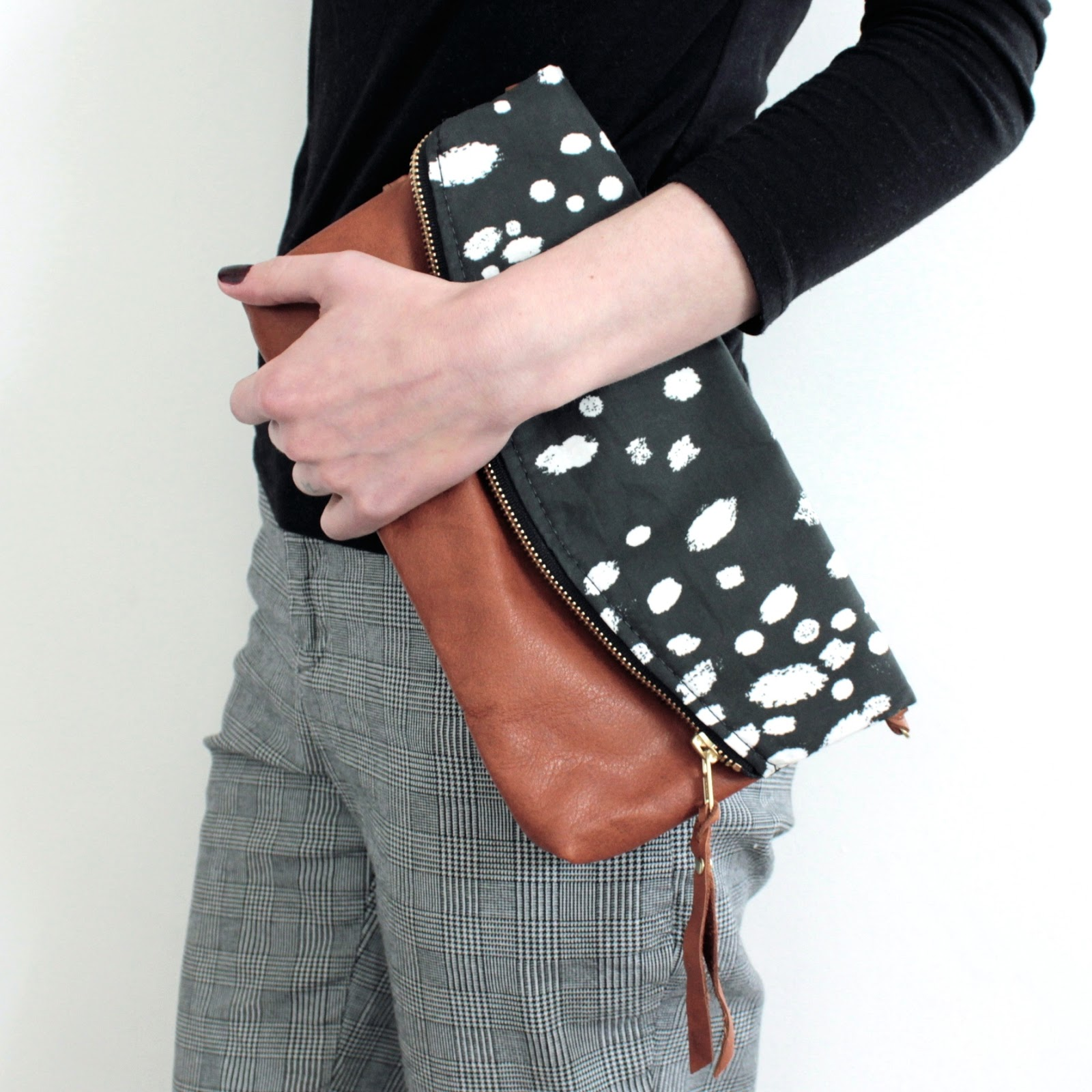 Antelope Shop Anneb designs Aspen Folded Clutch Citrine Lining Boheme Leather bag antelopeshop.com Lexie Blush