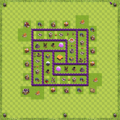 War Base Town Hall Level 7 By robbie1111111 (ggggg Layout)