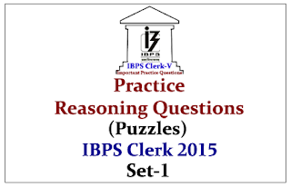 Race IBPS Clerk 2015- Practice Reasoning Questions (Puzzles) With Explanation- Set-1