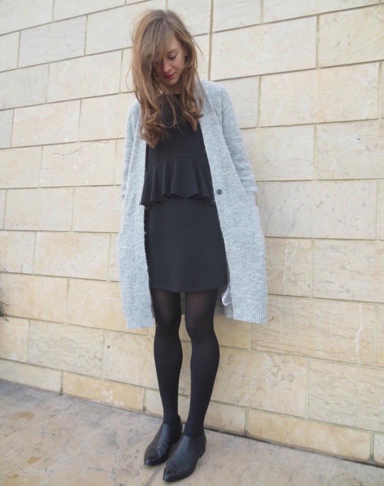 boohoo yasmin ruffle dress
