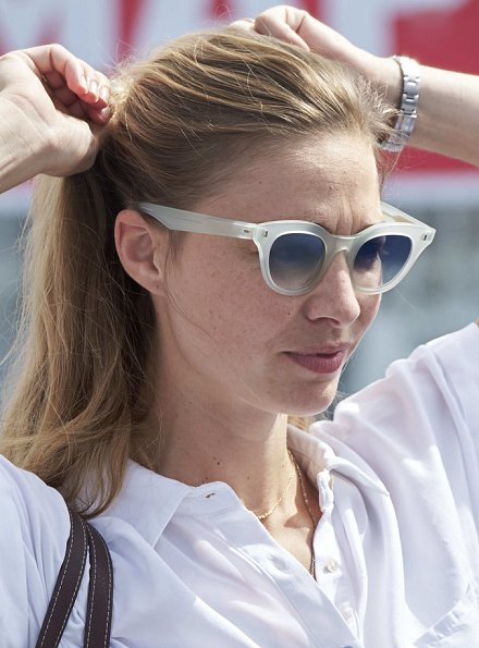 Pierre Casiraghi, the younger son of Princess Caroline of Hanover, and his wife Beatrice Borromeo at King's Cup sailing event