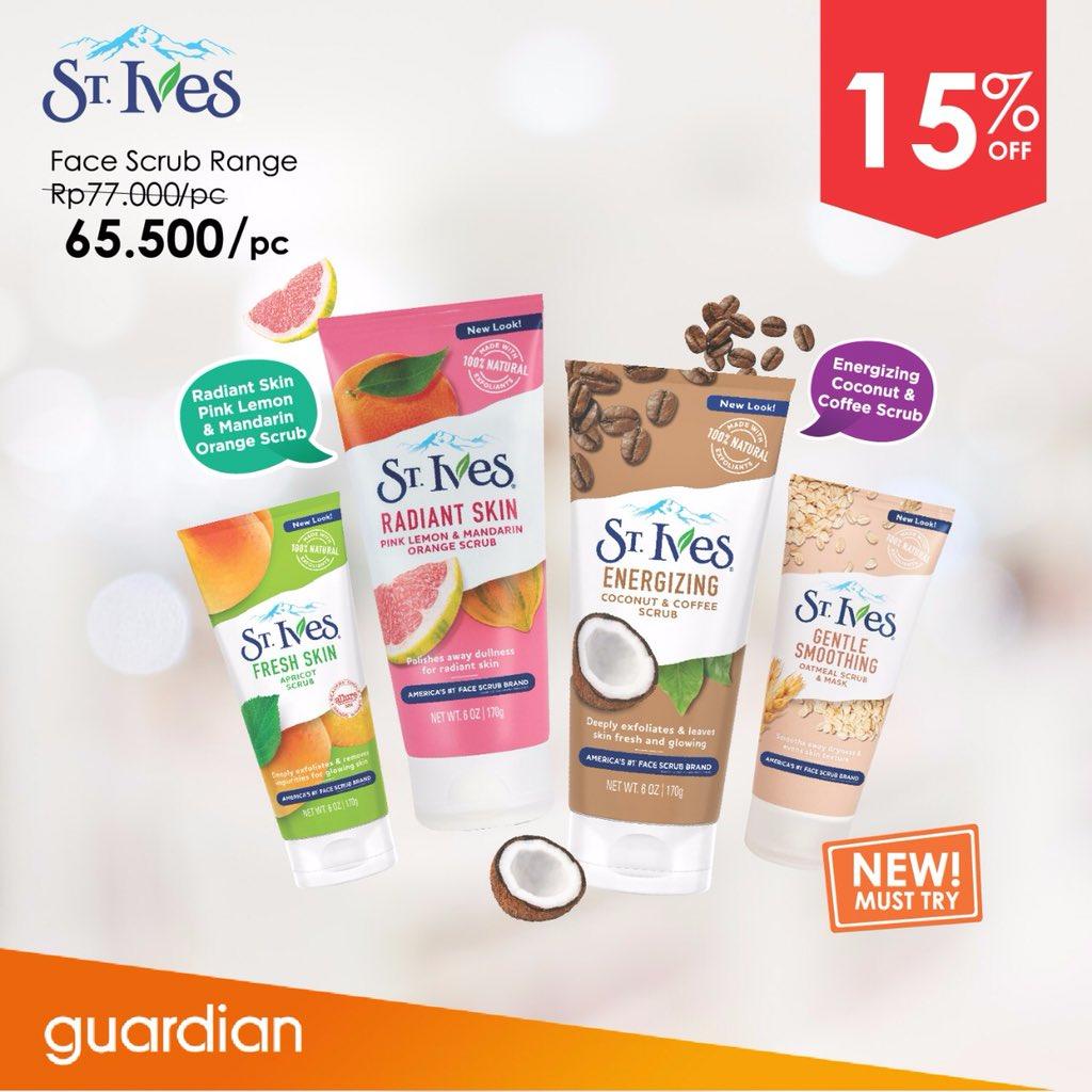 Guardian - Proom Diskon 15% Produk St Ives Face Scrub (s.d 19 Sept 2018)