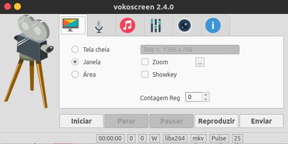 gravar desktop no ubuntu