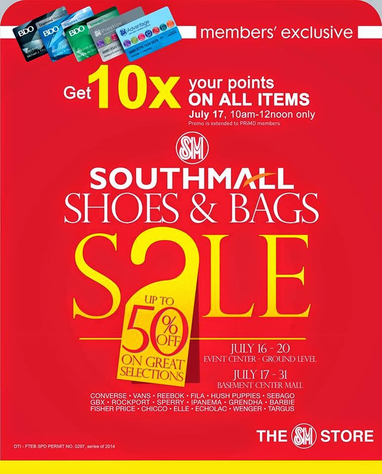 4f9122009b47 Shoes   Bags SALE at SM Southmall  July 2014