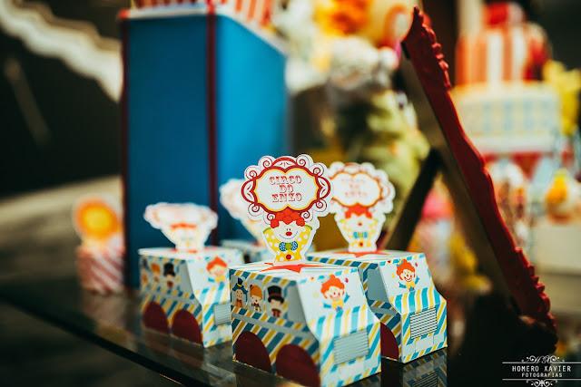 Festa Circo - Decoração em casa