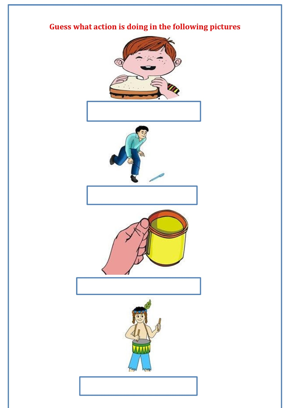 Lesson Plan Of Naming Words Amp Action Words English Grade