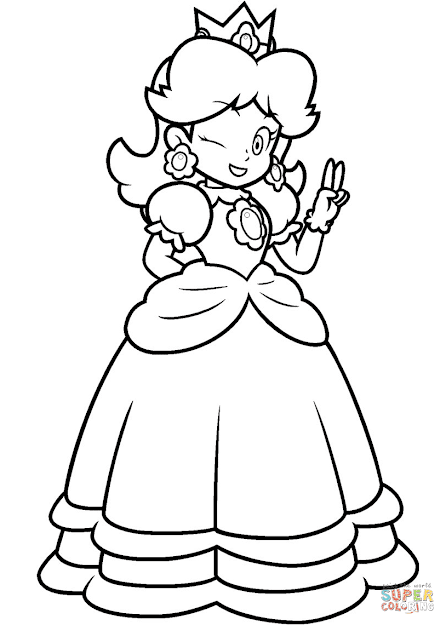 Click The Mario Princess Daisy Coloring Pages To View Printable Version Or  Color It Online Patible With Ipad And Android Tablets