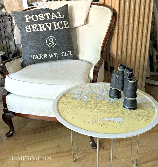 Map Table with Hairpin Legs www.homeroad.net