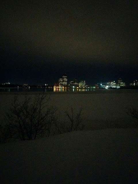 Night Photo of the Ottawa River in Winter Wild Here