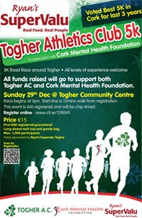 Popular end of the year 5k in Cork City - Sun 29th Dec 2019