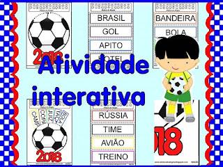 Atividade interativa copa 2018