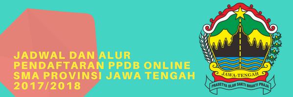Jadwal dan alur pendaftaran PPDB Online SMA Provinsi Jawa Tengah 20172018