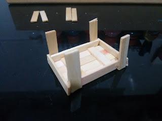 Mini caixote de feira de Palito de Picolé