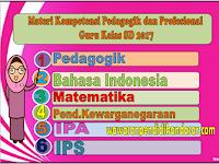 Download Materi Kompetensi Pedagogik dan Profesional Guru Kelas SD