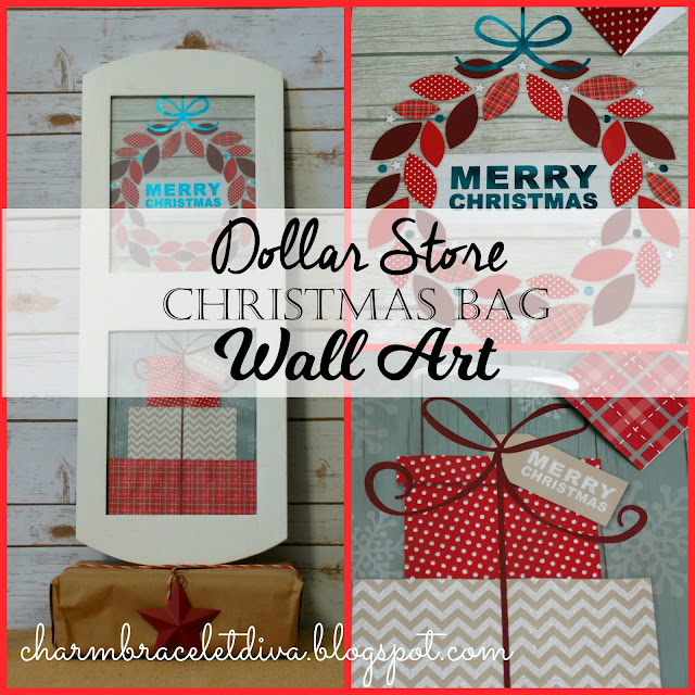 gift bag Christmas wall art