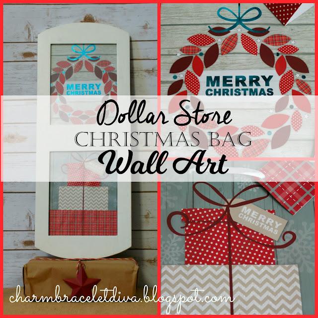 gift bag Christmas wall art