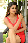 Poojitha sizzling in red dress-thumbnail-5