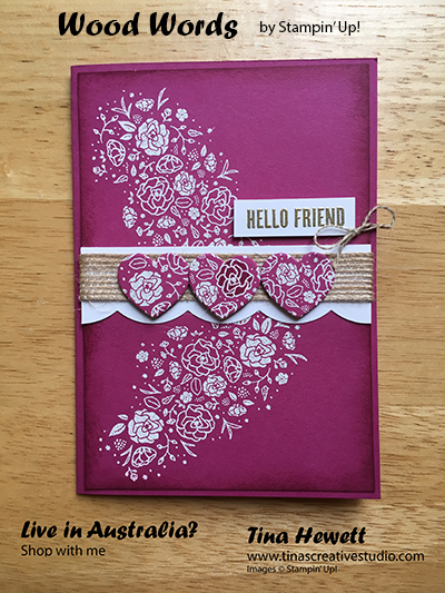 To Make This Card I Swiped An Embossing Buddy Over The Panel Of Berry Burst  Cardstock To Remove Static. Then I Inked Up The Large Floral Image From The  Wood ...