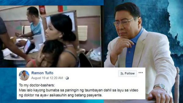 Mon Tulfo claims public has lost respect towards doctors, refuses to apologize