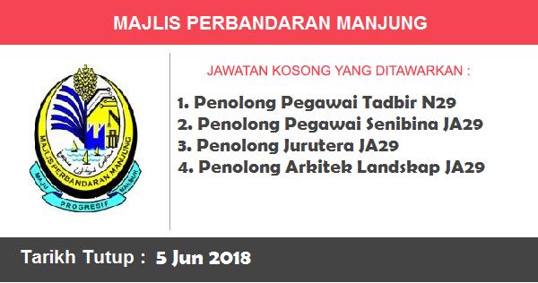Jawatan Kosong di Majlis Perbandaran Manjung