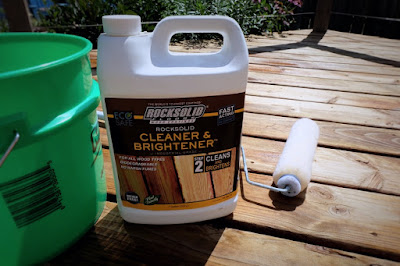 clean brighten deck wood stain prep