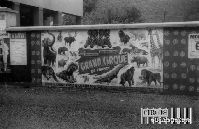 l'affichage du Grand Cirque de France 1965,