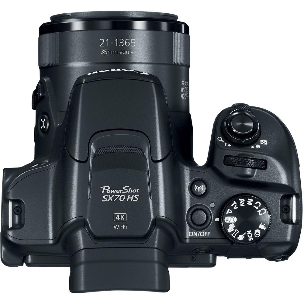 Canon PowerShot SX70 HS, вид сверху