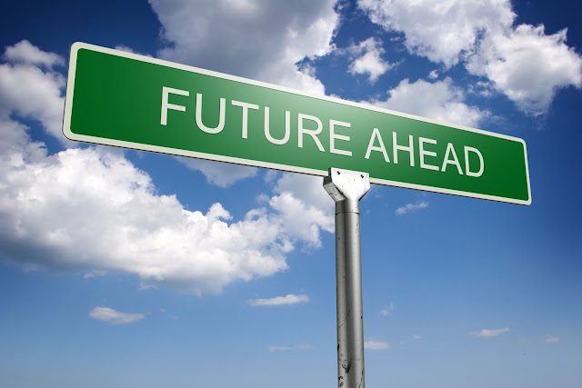 Future Ahead Sign Board For Presentation