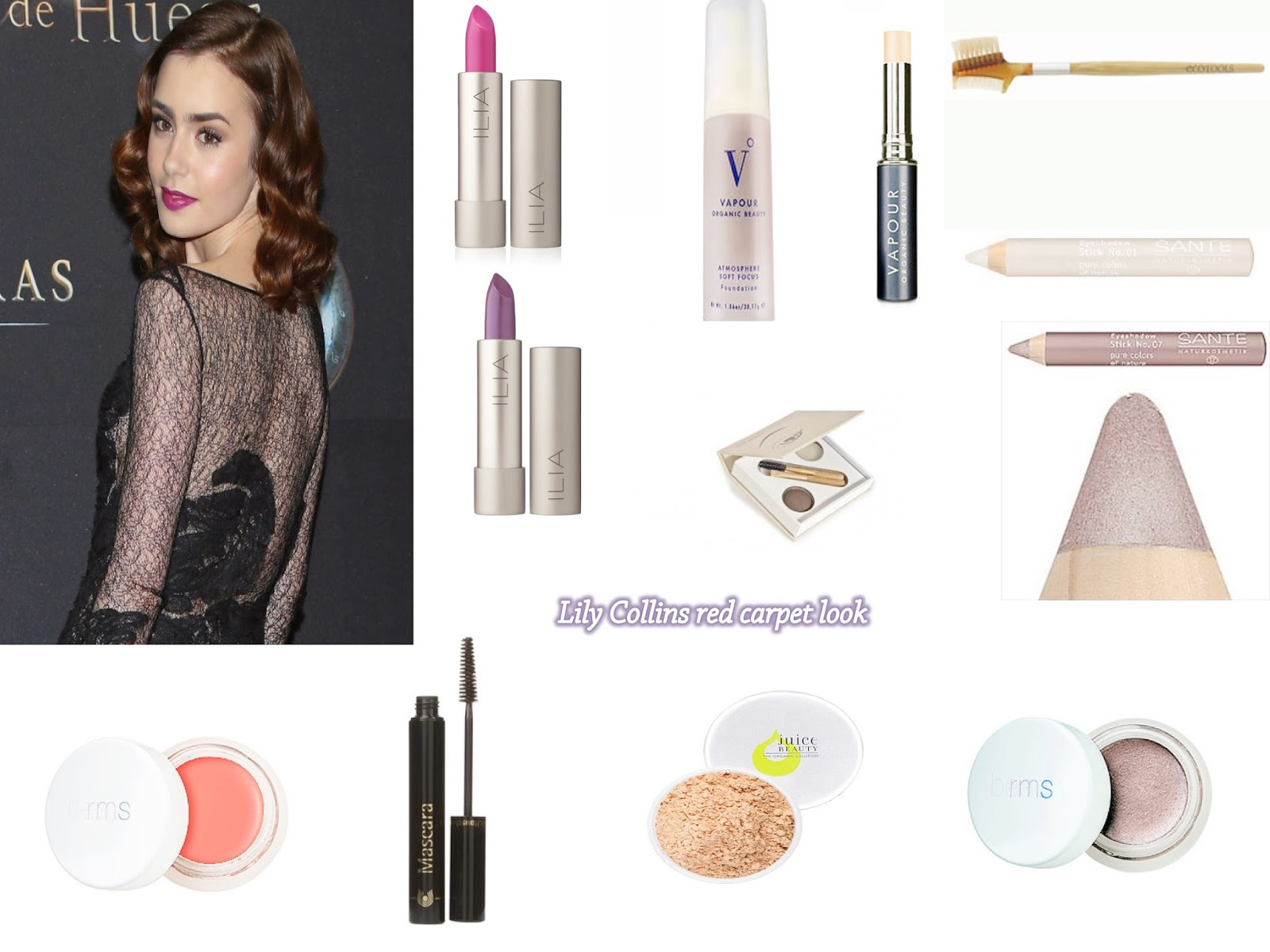 Lily Collins Makeup Look with Natural Cosmetics - Smells