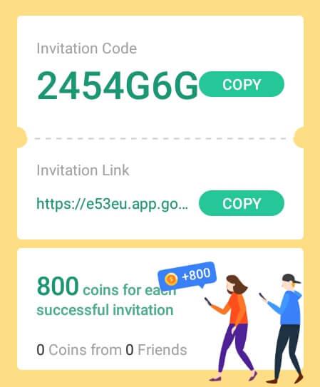 Anda dapat mengundang teman melalui link refferal ataupun kode refferal.