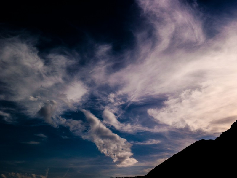 Download Silhouette of Mountain Under White Clouds HD wallpaper. Click Visit page Button for More Images.
