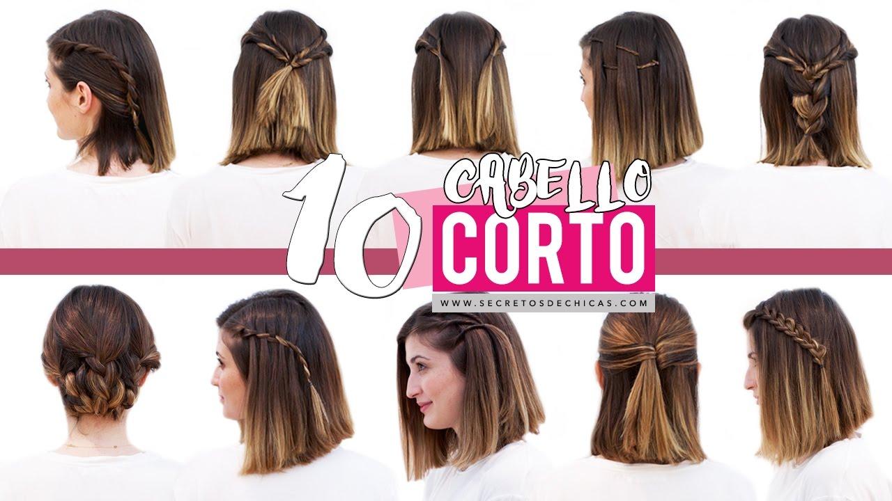 Tus Tips 10 Peinados Faciles Y Bonitos Para Cabello Corto Paso A Paso