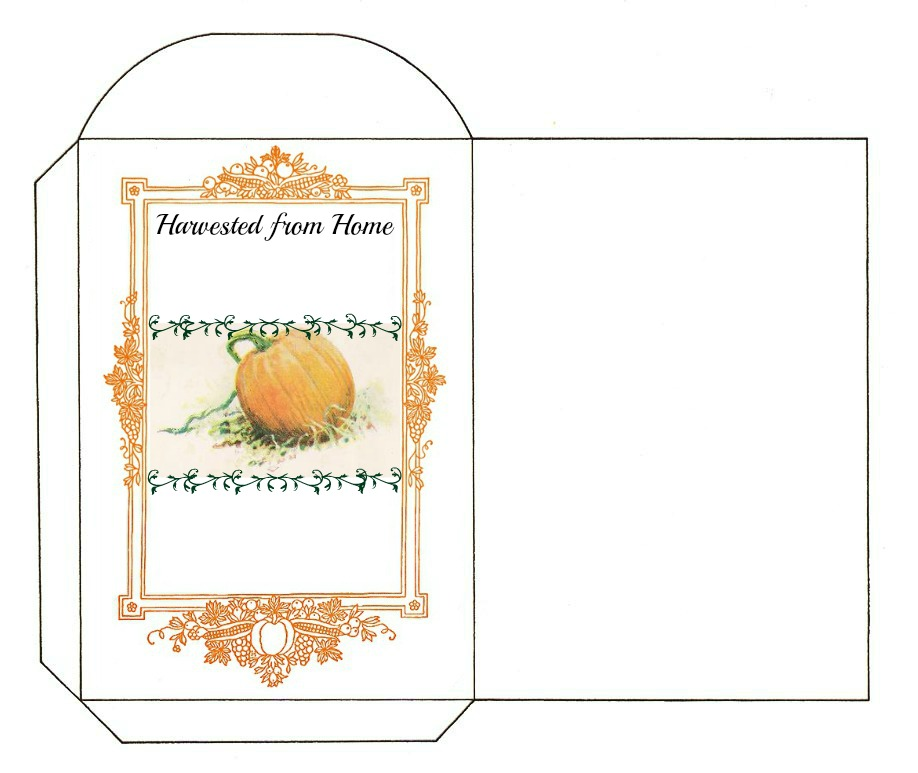 Reading, Roses  Prose Printable Pumpkin Seed Packet Label