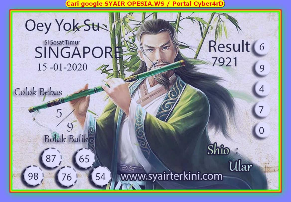 Kode syair Singapore Rabu 15 Januari 2020 69