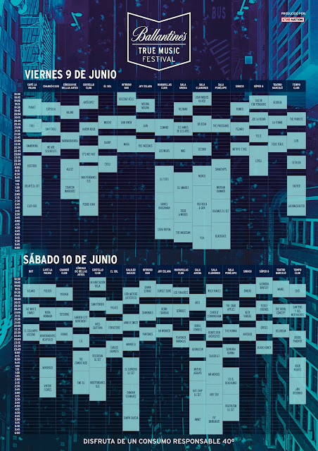 Ballantine's, True, Music, Festival, salas, Madrid, horarios